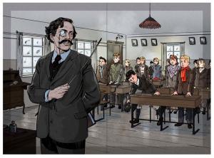 I klasselokalet illustration af Andreas Erstling